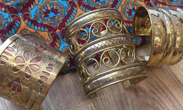 bracelets manchette laiton