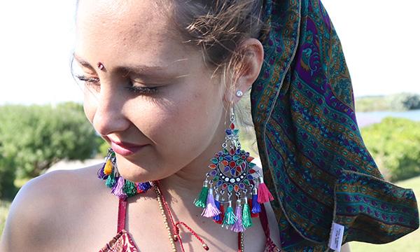 boucles d'oreilles hippie chic