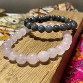 Le quartz rose et la labradorite ❤️ Tous nos bracelets en pierres naturelles sont disponibles sur www.bijouxindiens.net