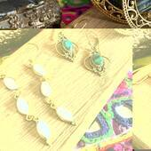 Perfect zoom ✨sur nos boucles d'oreilles en laiton et pierres naturelles Www.bijouxindiens.net