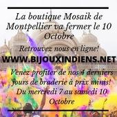 Vous le saviez déjà, la boutique de Montpellier va fermer ses portes le samedi 10 octobre. Par ailleurs, venez profiter de 4 jours de braderie avec pleins de petits prix! 2€, 5€ et 10€ ! 😃🥰 On vous attends nombreux dès demain matin 10h !