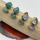 NOUVEAUTÉ ! Du côté de nos boucles d'oreilles en laiton et pierres 🥰 De nombreux modèles disponibles sur www.bijouxindiens.net