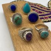 Bague argent ethnique et pierre naturelle ❤️ Venez jeter un coup d'œil sur le site www.bijouxindiens.net 😉