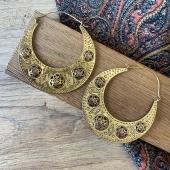 Cette paire de créoles dorées en laiton et graine de vie est une belle pièce de notre nouvelle collection de boucles d'oreilles 🥰 — Www.bijouxindiens.net