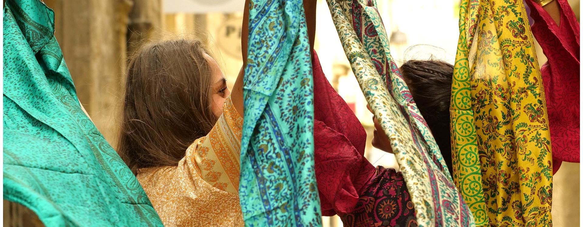 Foulards et accessoires indiens